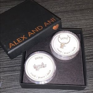 Alex and Ani dove ring and earring